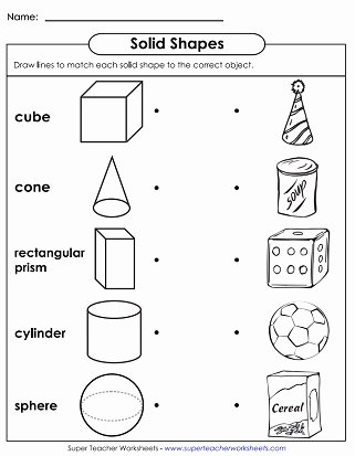 Cone Worksheets for Preschoolers Fresh solid Shapes Worksheets Very Basic