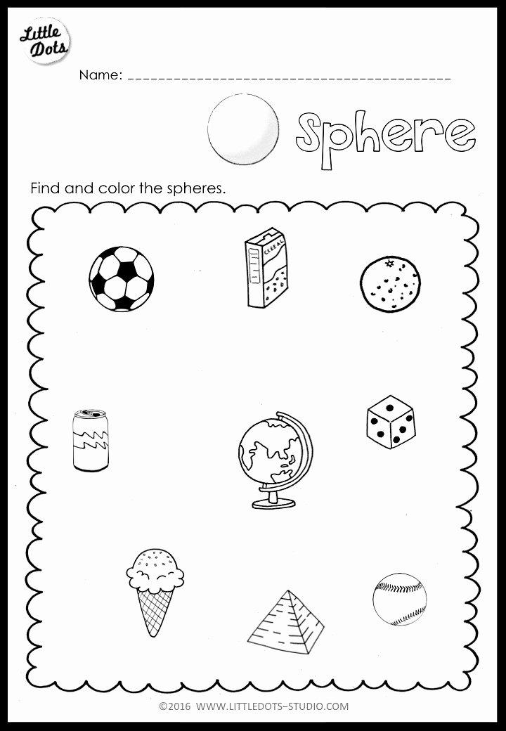 Cone Worksheets for Preschoolers top Kindergarten Math 3d Shapes Worksheets and Activities