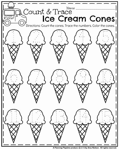 Cone Worksheets for Preschoolers Unique Summer Kindergarten Worksheets