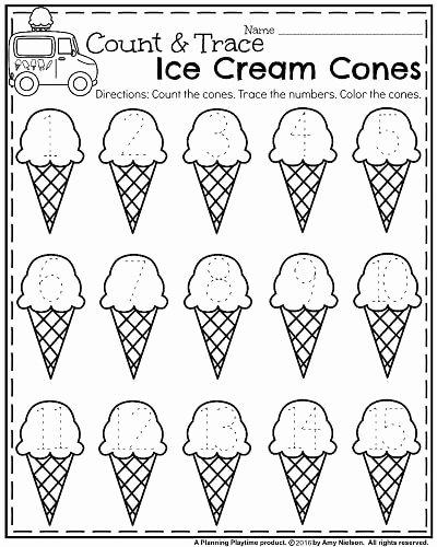Cone Worksheets for Preschoolers Unique Summer Kindergarten Worksheets