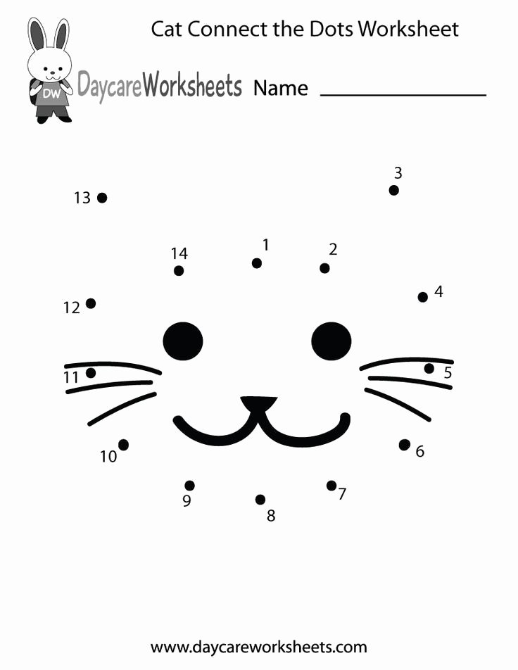 Connecting Dots Worksheets for Preschoolers Best Of Preschoolers Can Connect the Dots to Make A Cat In This Fre