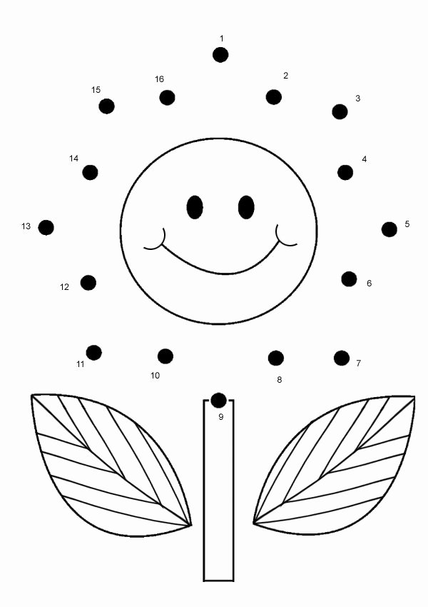 Connecting Dots Worksheets for Preschoolers Lovely Free Line Printable Kids Games Flower Dot to Dot