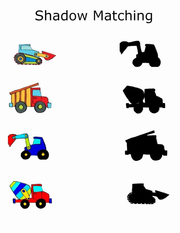 Construction Worksheets for Preschoolers Awesome Construction Preschool Packet Freebie Vervoer thema Shadow