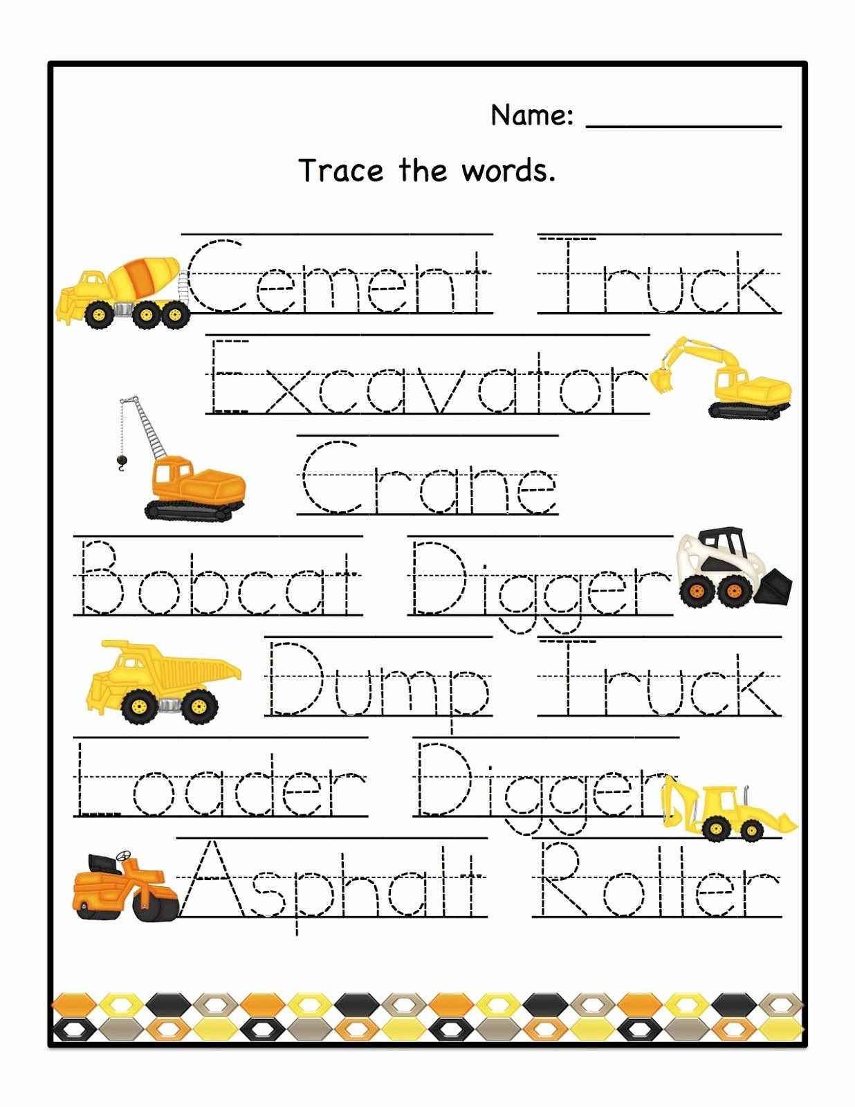 Construction Worksheets for Preschoolers Beautiful Preschool Printables August 2012