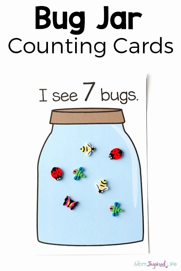 Counting Bugs Worksheets for Preschoolers Awesome Bug Jar Counting Game for Kids