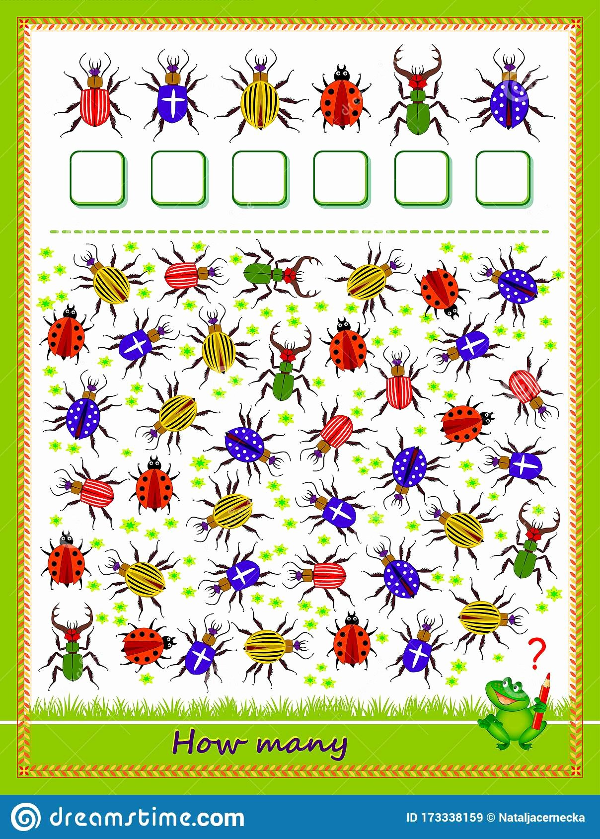 Counting Bugs Worksheets for Preschoolers Inspirational Math Education for Children Count Quantity Bugs and