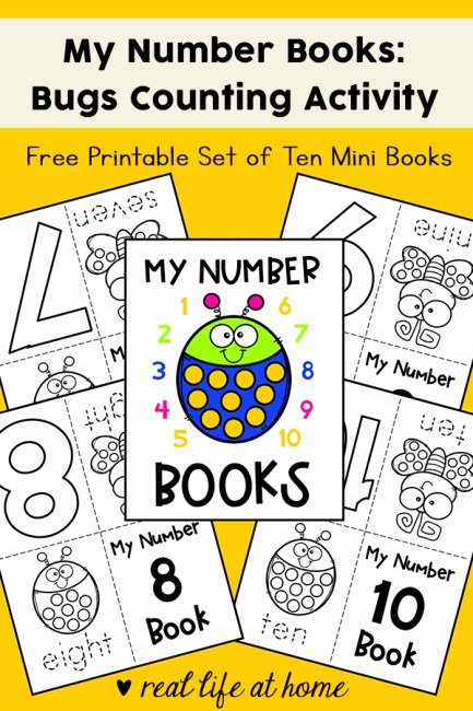 Counting Bugs Worksheets for Preschoolers Inspirational My Numbers Mini Books Set Of 10 Bug Mini Books Free Printable