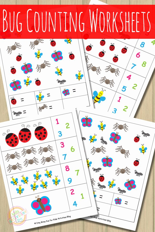 Counting Bugs Worksheets for Preschoolers Unique Bug Counting Worksheets