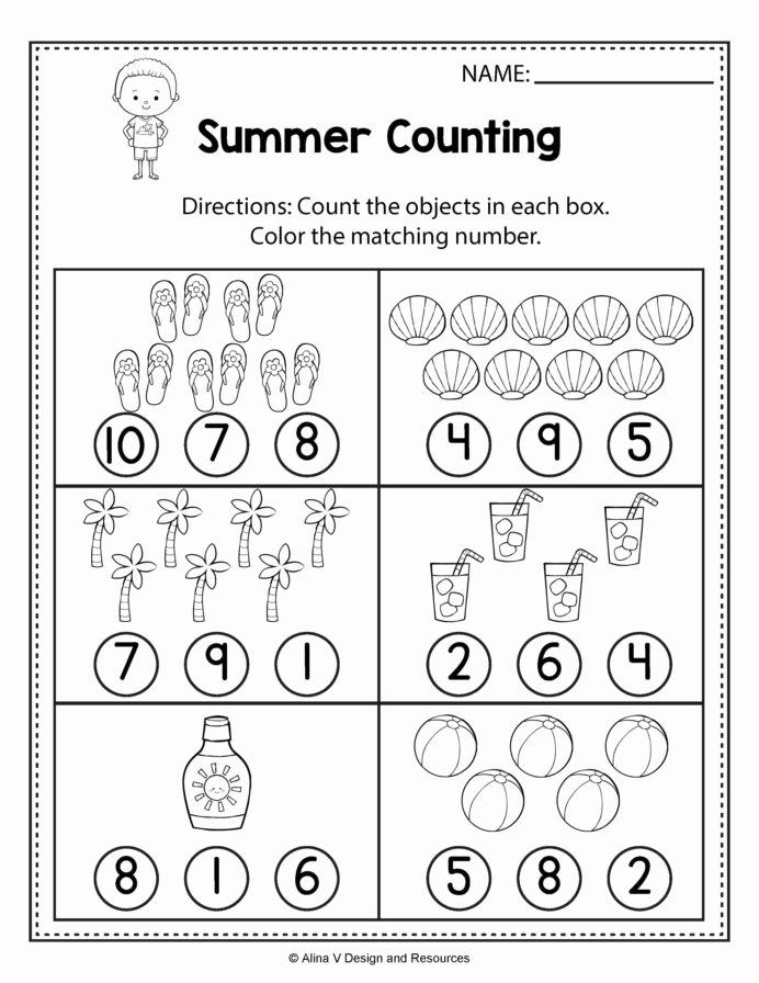 Counting Worksheets for Preschoolers Beautiful Math Worksheet Remarkable Counting Worksheets for Preschool
