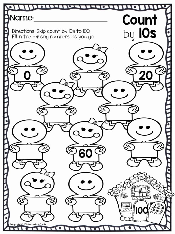Counting Worksheets for Preschoolers Best Of Christmas Counting Worksheets Printable and Math Worksheets