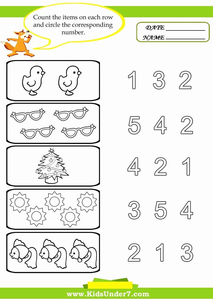 Counting Worksheets for Preschoolers top Preschool Worksheets