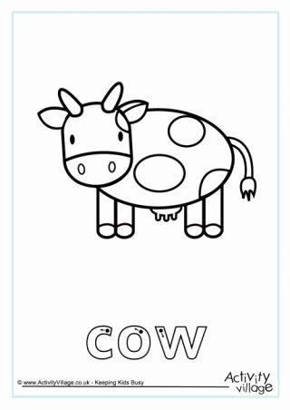 Cow Worksheets for Preschoolers Awesome Cow Printables
