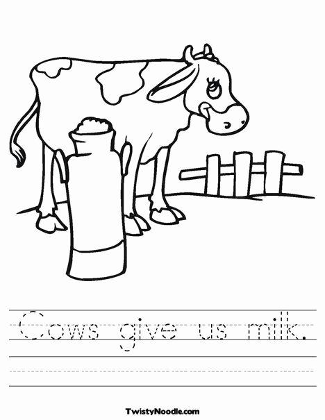 Cow Worksheets for Preschoolers Awesome Cows Give Us Milk Worksheet
