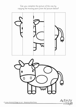 Cow Worksheets for Preschoolers Best Of Cow Printables