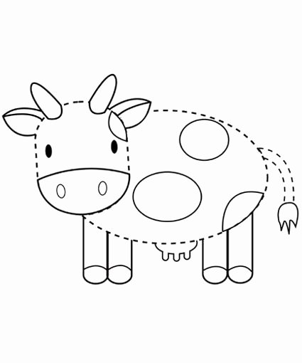 Cow Worksheets for Preschoolers Best Of Cow Tracing Printables for Children