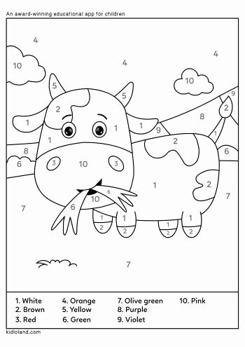 Cow Worksheets for Preschoolers Unique Download Free Color by Number 33 and Educational Activity