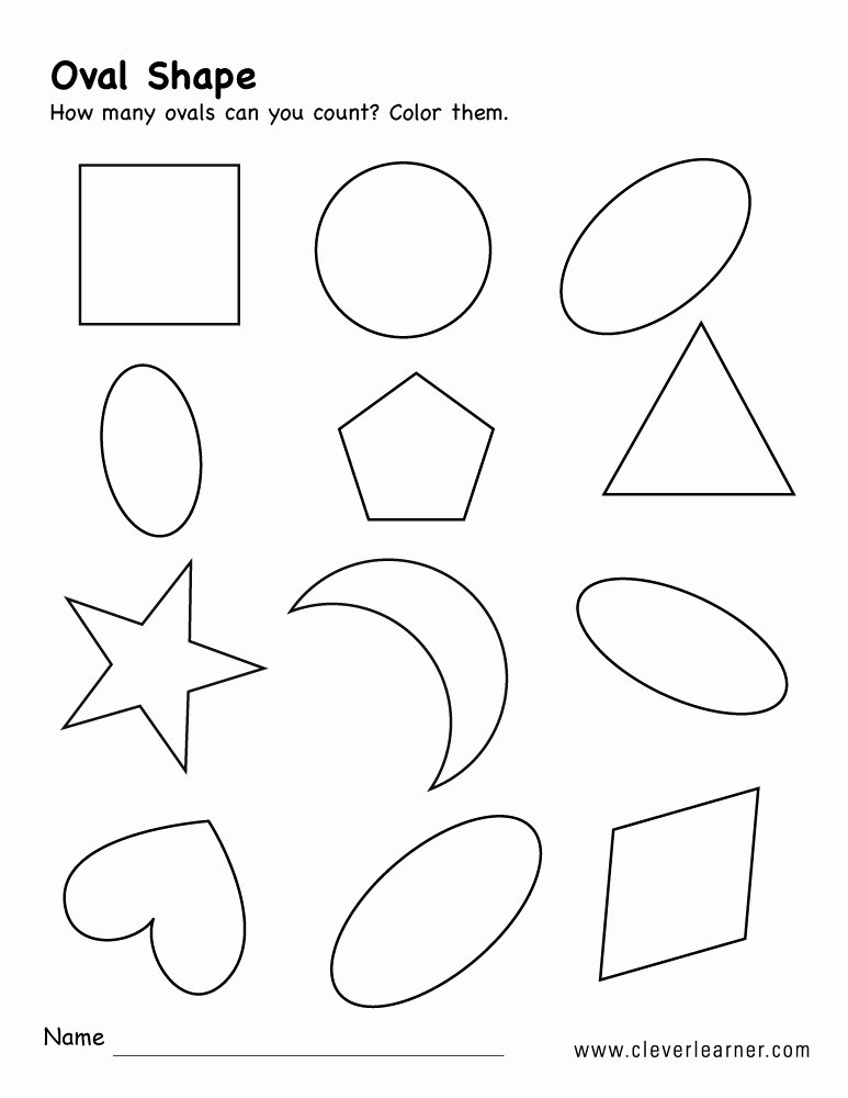 Crescent Shape Worksheets for Preschoolers Best Of Free Oval Shape Activity Worksheets for Preschool Children