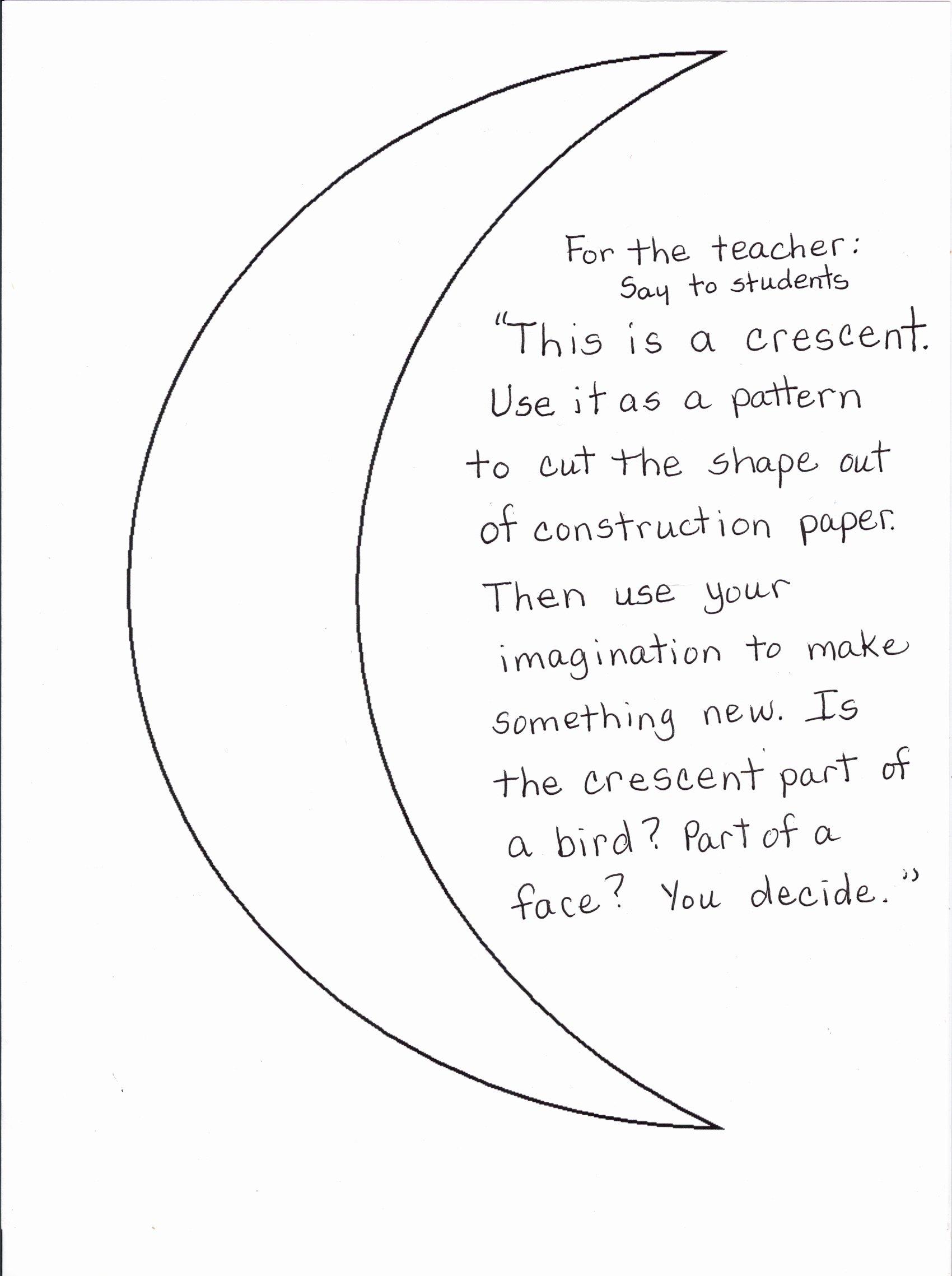 Crescent Shape Worksheets for Preschoolers Unique Crescent Shape Worksheets Printable and Activities Preschool