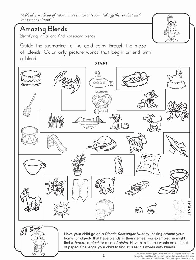 Critical Thinking Worksheets for Preschoolers Inspirational Amazing Blends – Fun Reading Worksheets for 2nd Grade