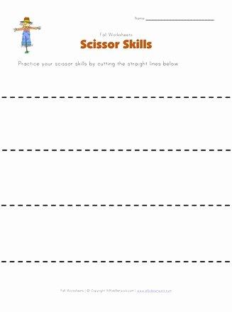 Cutting Practice Worksheets for Preschoolers Fresh Fall Cutting Practice Worksheet