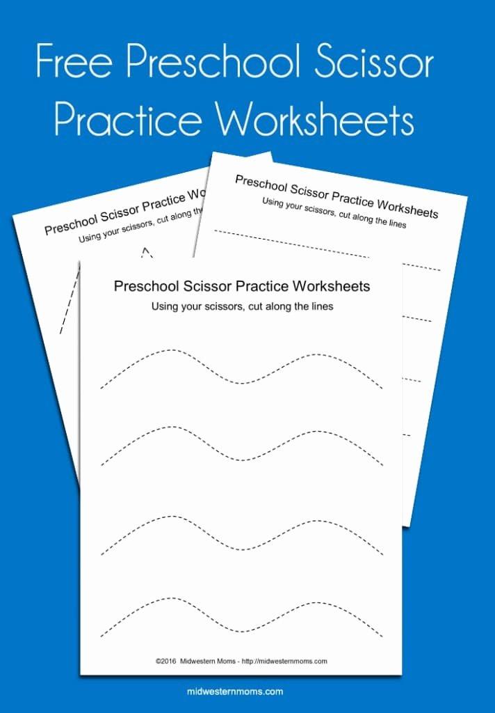 Cutting Practice Worksheets for Preschoolers New Preschool Scissor Practice Worksheets