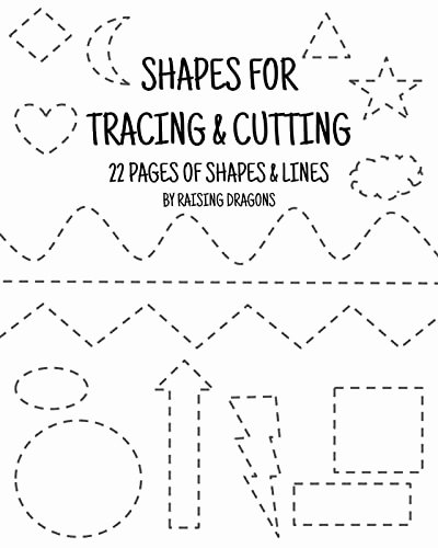 Cutting Practice Worksheets for Preschoolers New Shapes Tracing and Cutting Activity Printable Scissor Skills