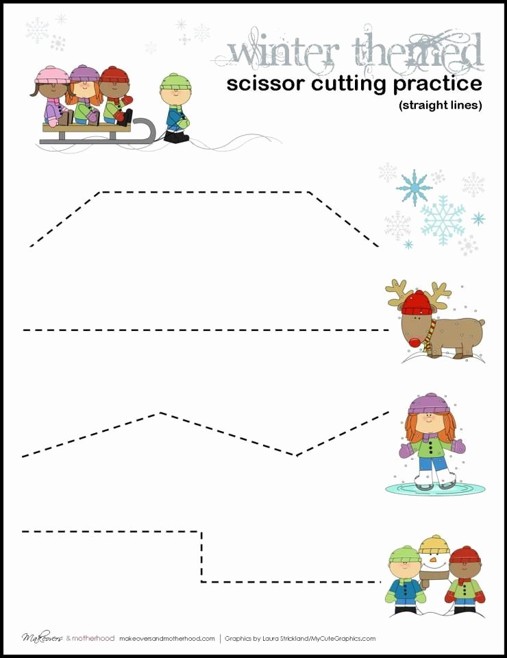 Cutting Practice Worksheets for Preschoolers Unique Pin On Cutting Activities for Children