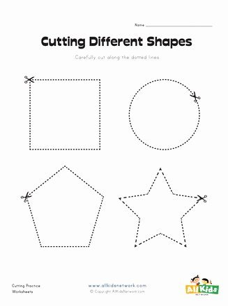 Cutting Shapes Worksheets for Preschoolers Fresh Cutting Shapes Worksheet