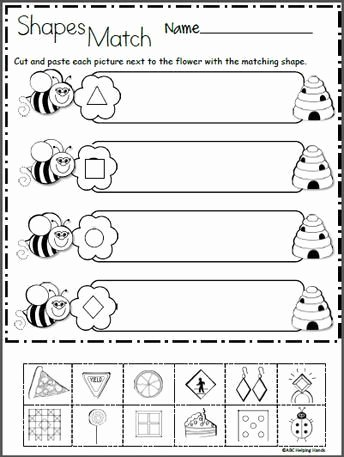 Cutting Shapes Worksheets for Preschoolers New 2d Shapes Worksheet Kindergarten Free 2d Shapes Math