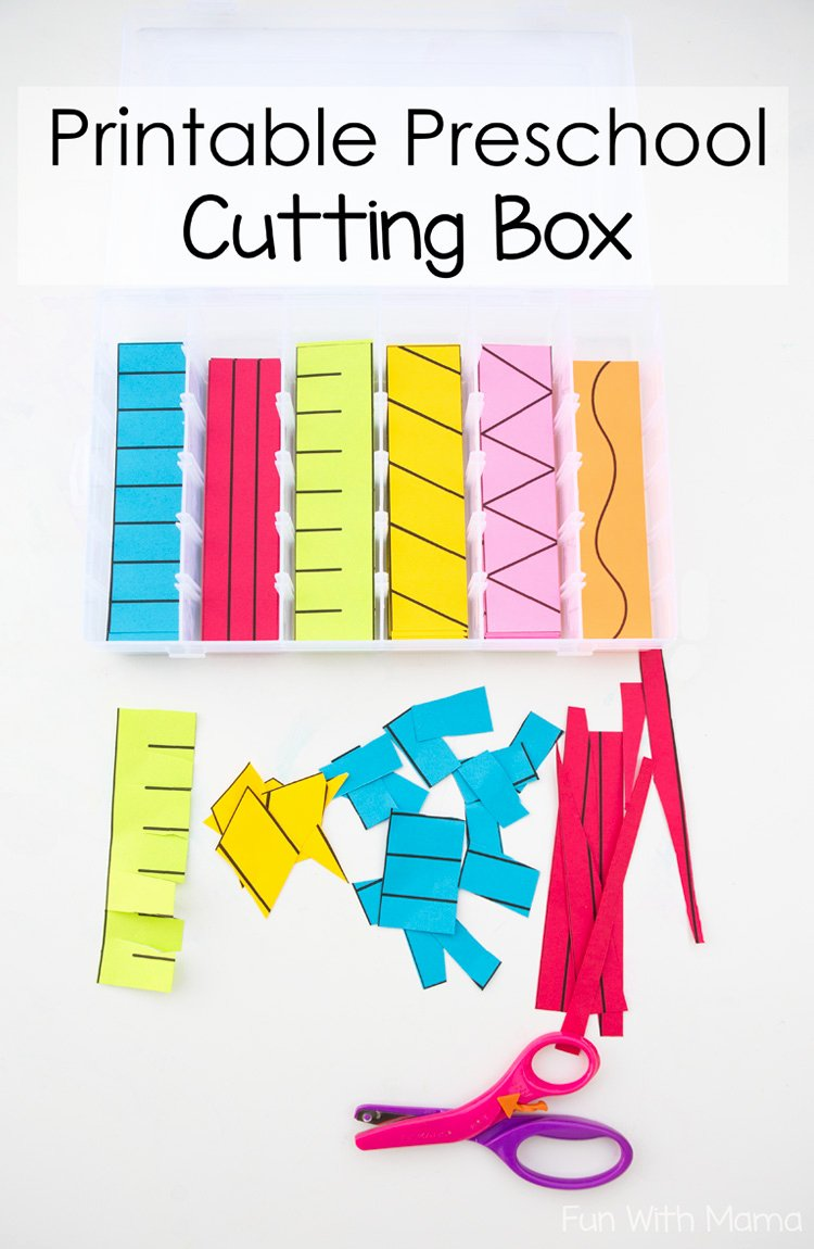 Cutting Skills Worksheets for Preschoolers Beautiful Printable Preschool Cutting Busy Box Fun with Mama