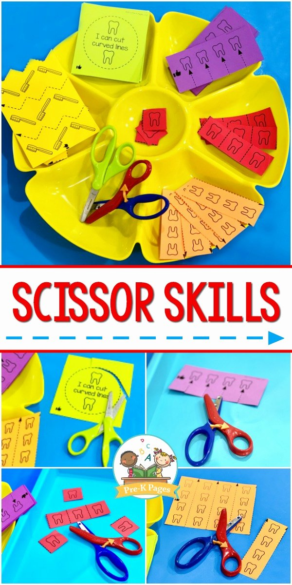 Cutting Skills Worksheets for Preschoolers Best Of Scissor Cutting Skills Activity Tray Pre K Pages