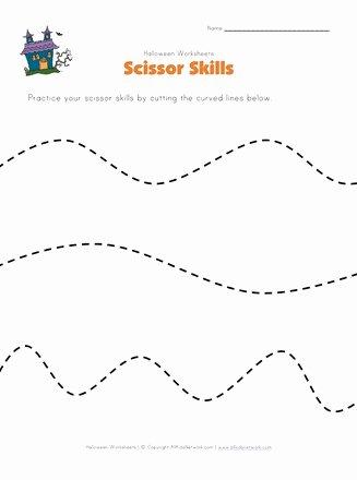 Cutting Skills Worksheets for Preschoolers Fresh Halloween Scissor Skills Worksheet