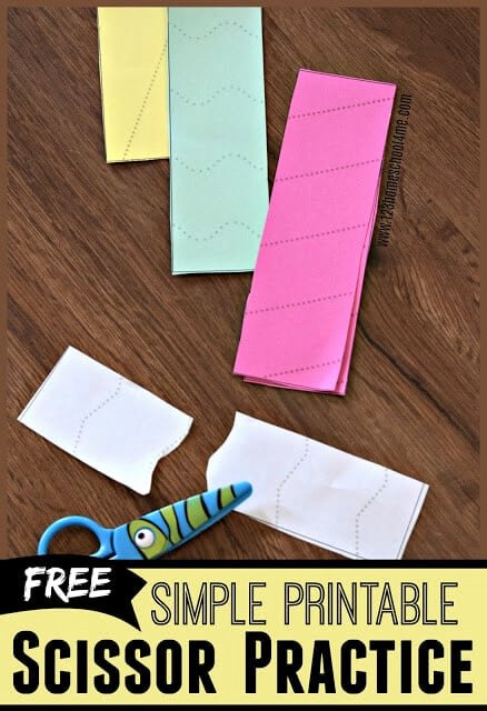 Cutting Skills Worksheets for Preschoolers Fresh Simple Scissor Practice Sheets