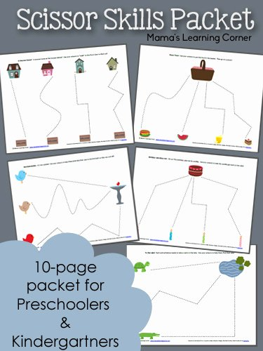 Cutting Skills Worksheets for Preschoolers top 10 Page Scissor Skills Packet for Preschool Mamas Learning