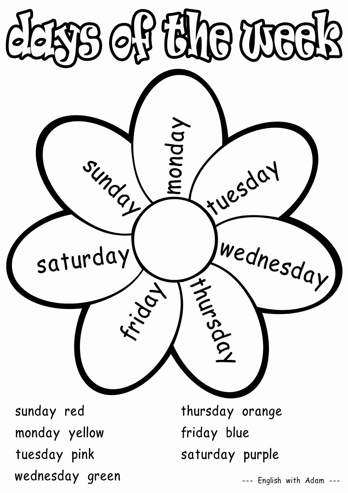 Days Of the Week Worksheets for Preschoolers Lovely Days Of the Week