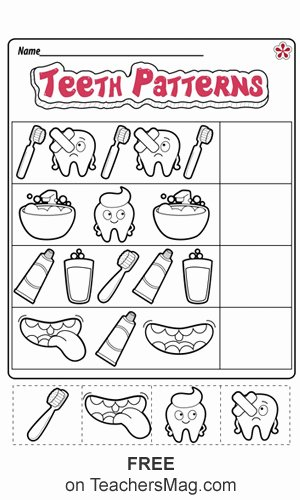 Dental Worksheets for Preschoolers Awesome Dental Health Worksheets for Preschool and Kindergarten