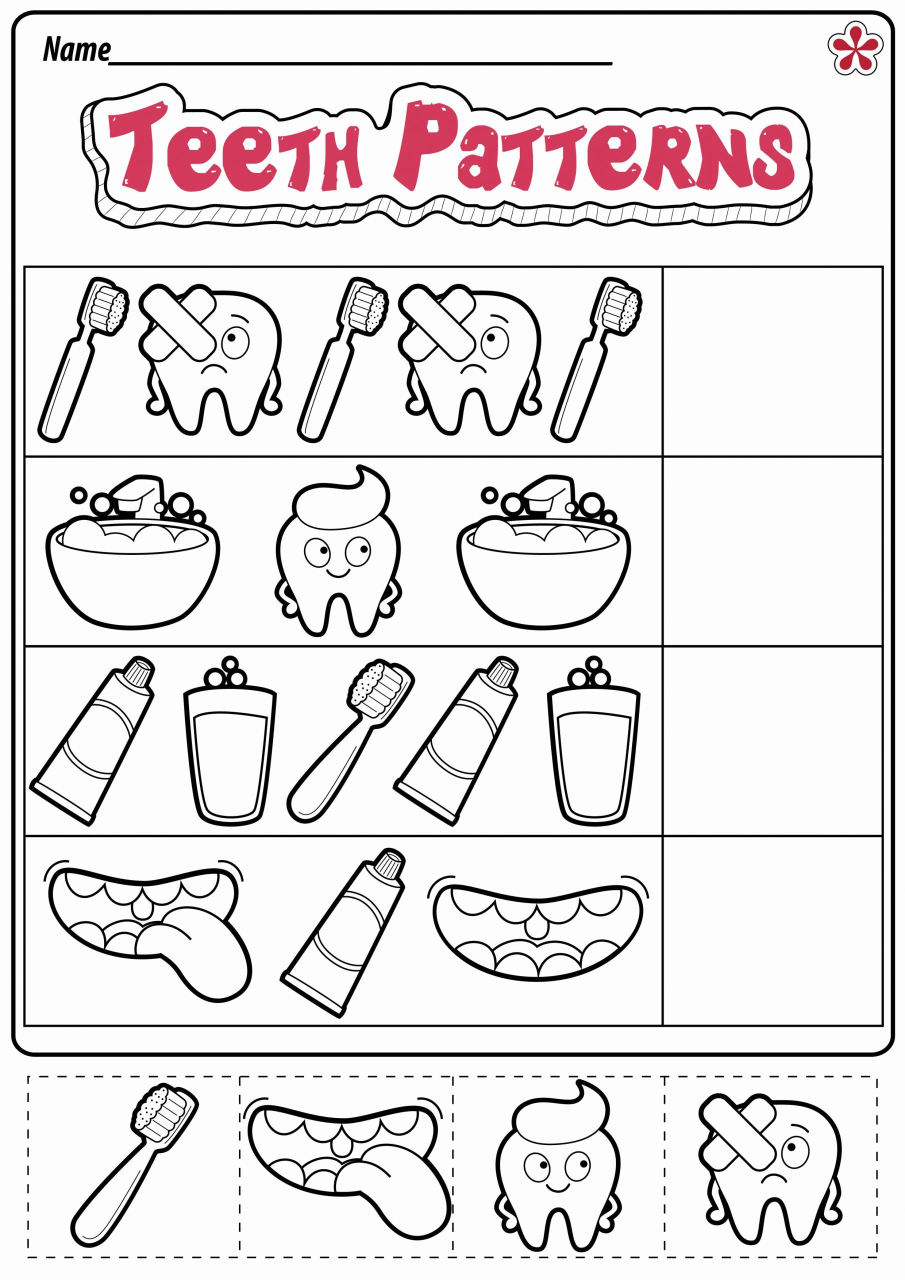 Dental Worksheets for Preschoolers Beautiful Dental Health Worksheet for Preschoolers