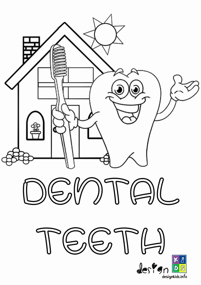 Dental Worksheets for Preschoolers Fresh Color Dental Coloring for Kids Free Printable Health Hygiene