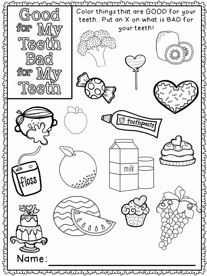 Dental Worksheets for Preschoolers top Preschool Worksheets for Going to the Dentist