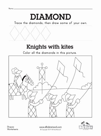 Diamond Worksheets for Preschoolers Lovely Diamond Worksheet