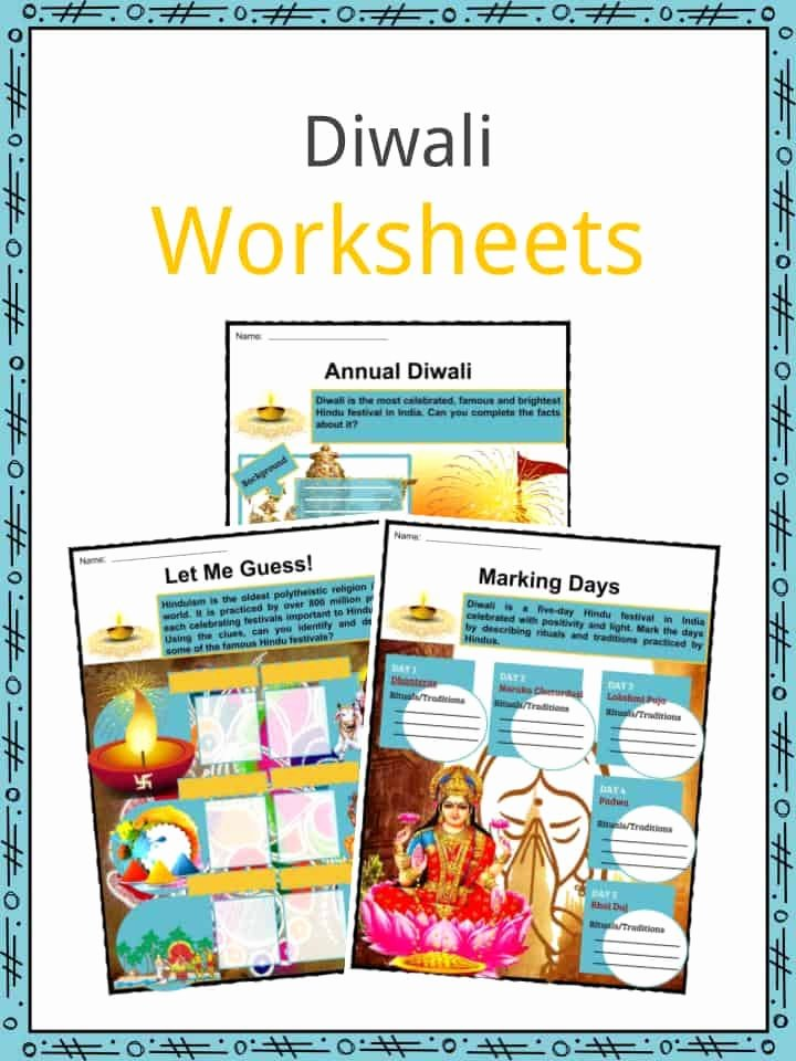 Diwali Worksheets for Preschoolers Beautiful Diwali Facts Worksheets Etymology Observances & Traditions