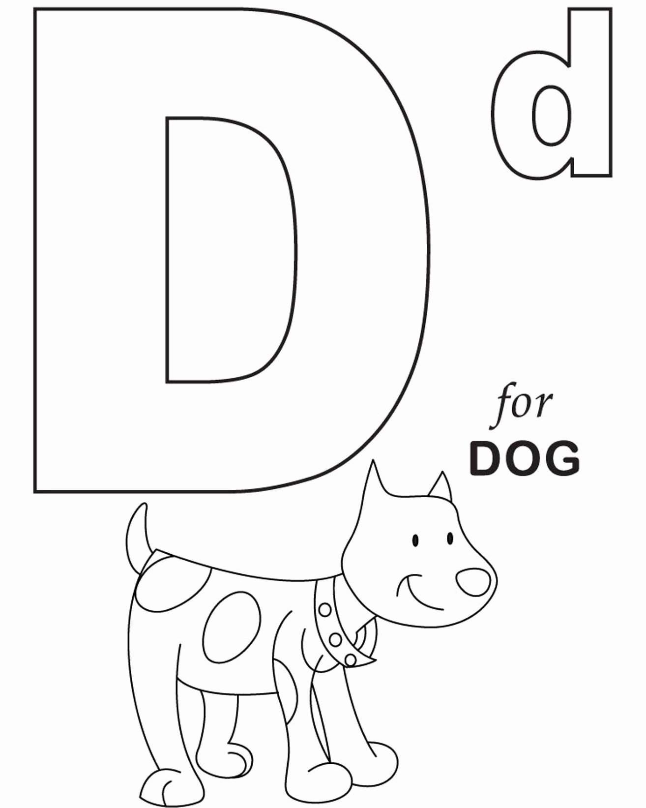 Dog Worksheets for Preschoolers Awesome Worksheets Alphabet Coloring for Dog Printable Tracing the