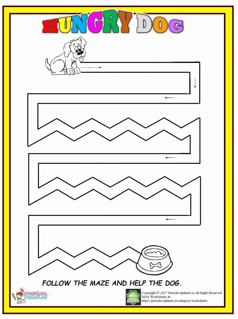 Dog Worksheets for Preschoolers Fresh Dog Maze Worksheet – Preschoolplanet