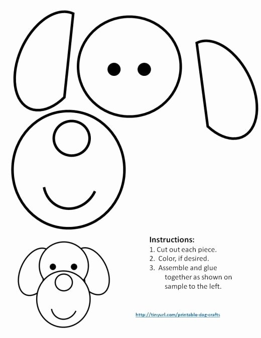 Dog Worksheets for Preschoolers New Printable Dog Patterns with Simple Shapes for Kids Crafts