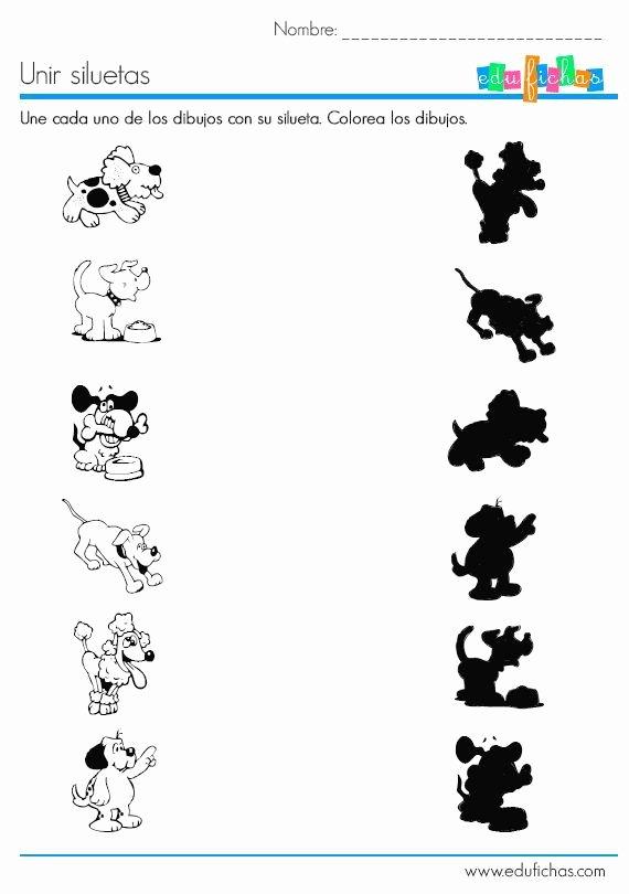 Dog Worksheets for Preschoolers Unique Dog Shadow Worksheet