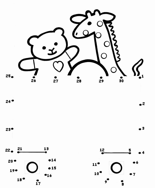 Dot to Dot Worksheets for Preschoolers Beautiful toy Dot to Dot