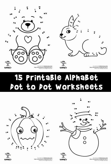Dot to Dot Worksheets for Preschoolers Fresh Printable Alphabet Dot to Dot Worksheets