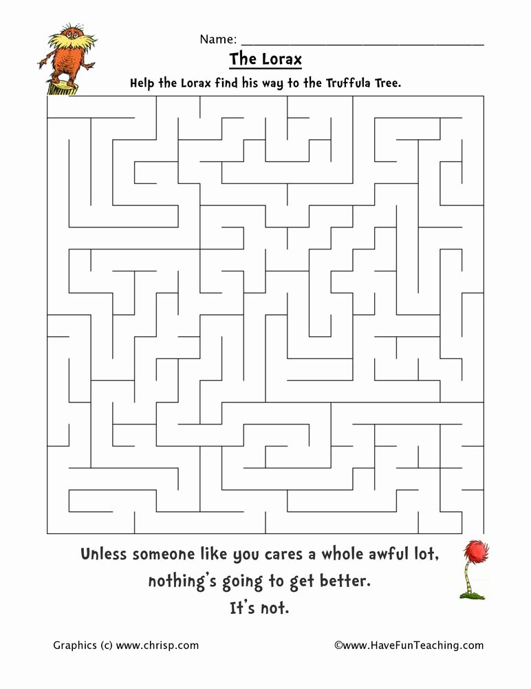 Dr Seuss Worksheets for Preschoolers Fresh Learning with Dr Seuss Free themed Printables Printable