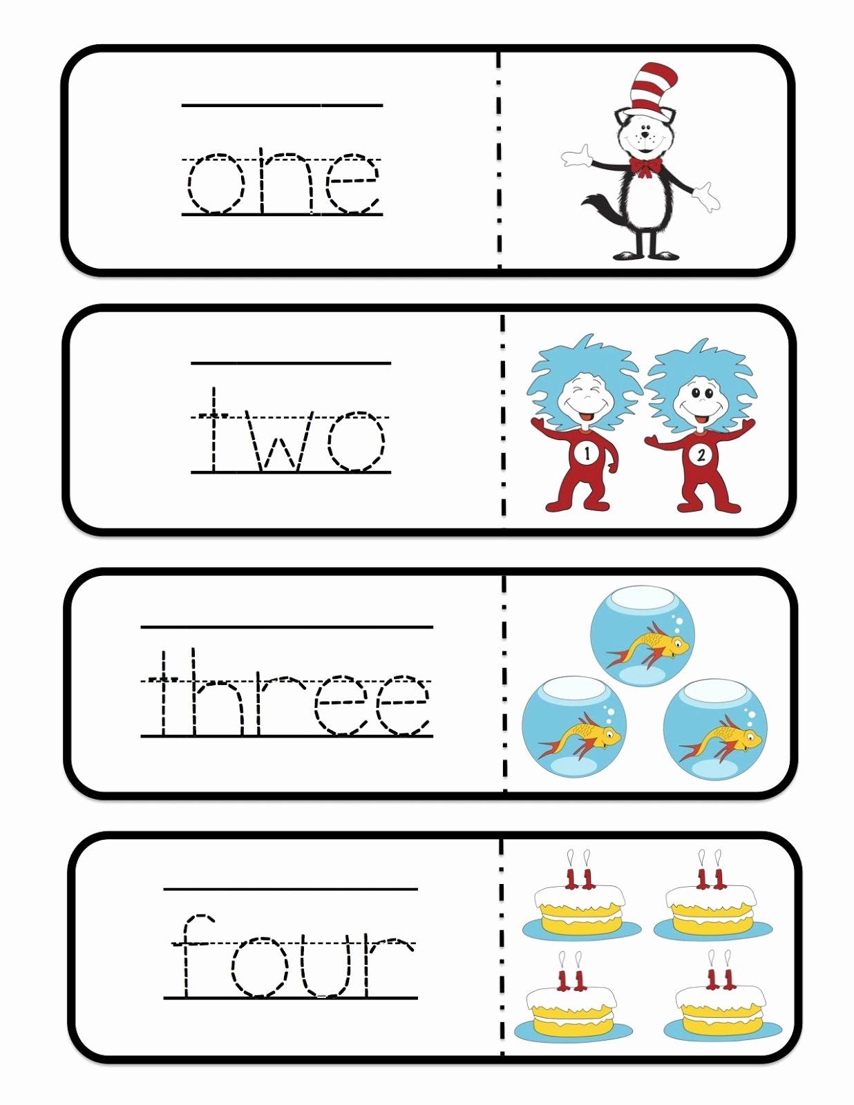 Dr Seuss Worksheets for Preschoolers Inspirational Tracing Drseuss