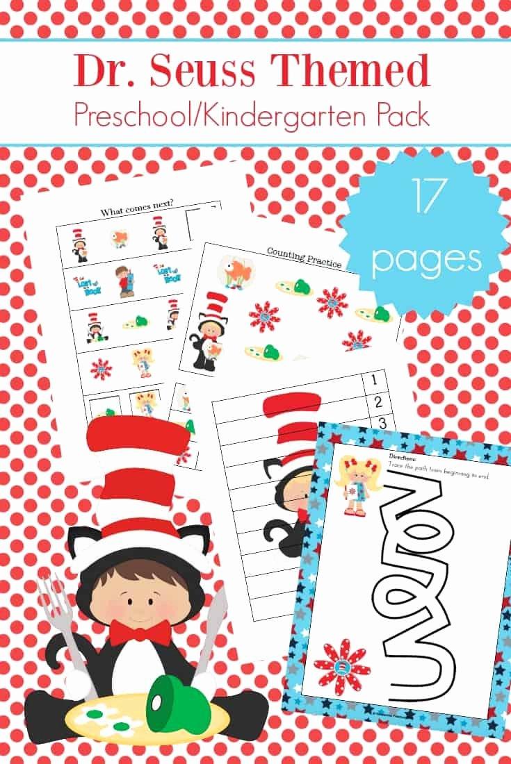Dr Seuss Worksheets for Preschoolers Unique Dr Seuss Printables Coloring Sheet Characters for